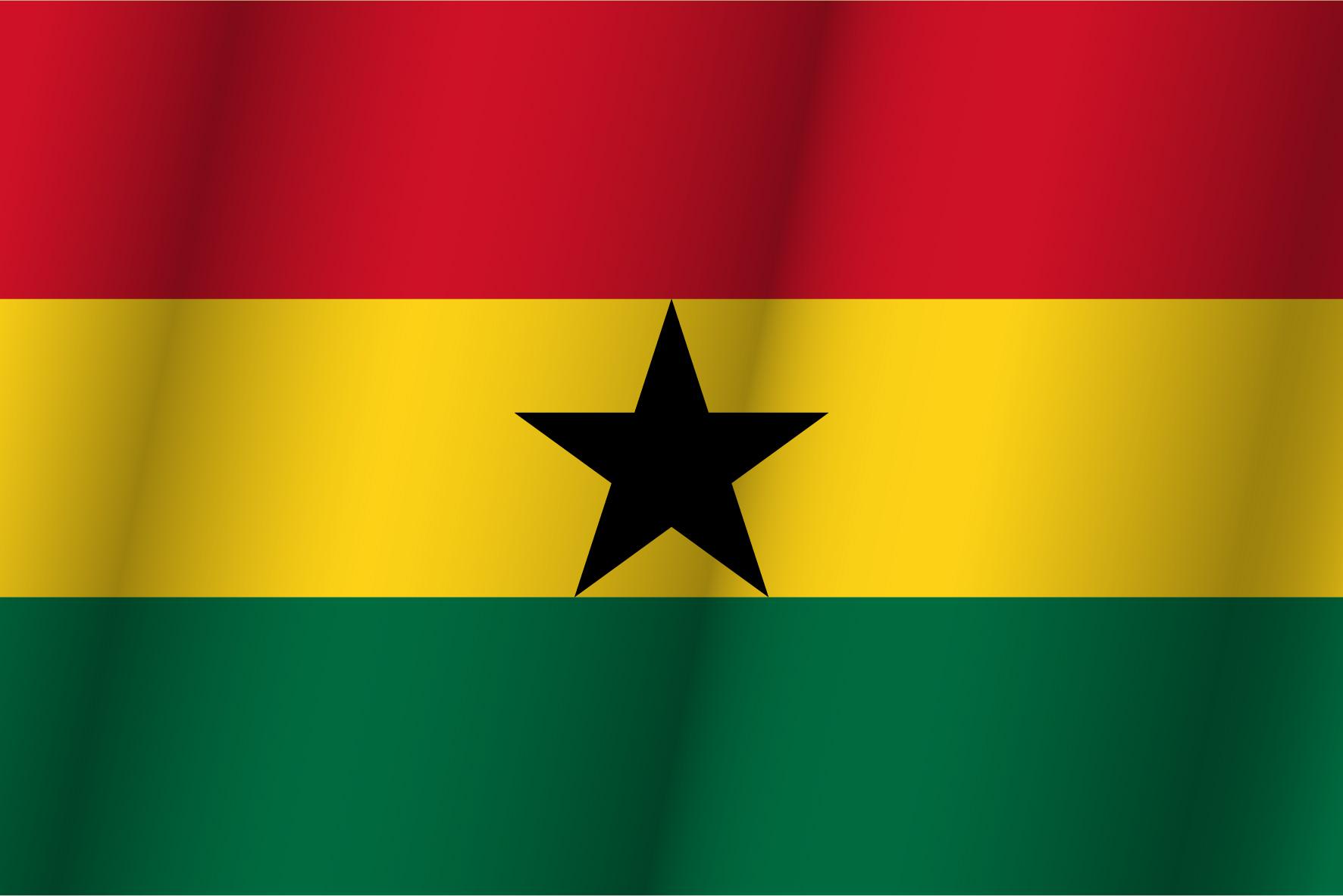 bandera verde y blanca con estrella roja