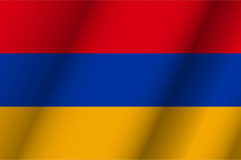 Azul paises su bandera en con
