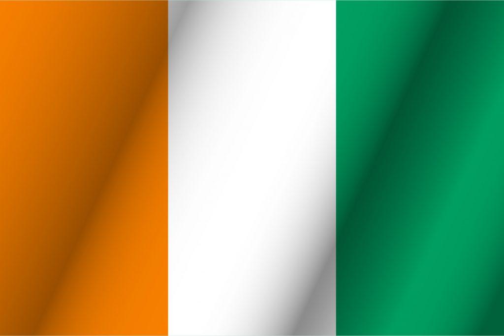 Con verde y roja paises bandera