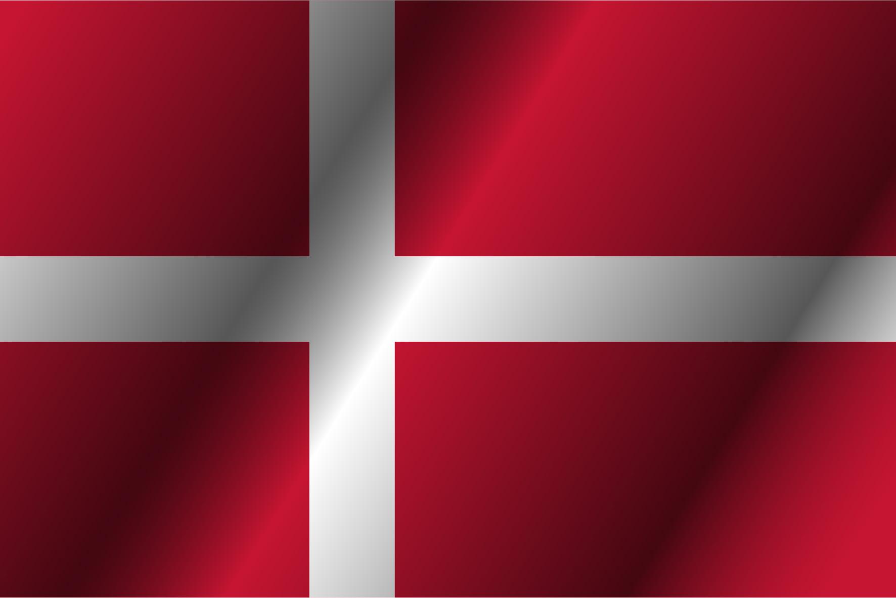 Bandera con una cruz blanca y fondo azul