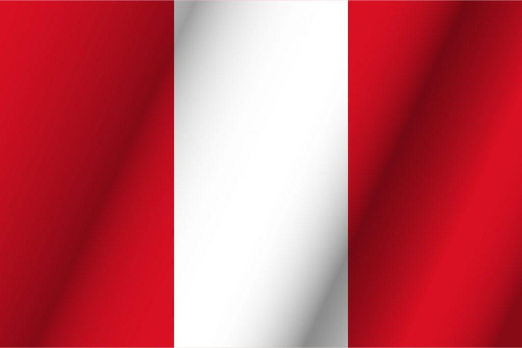 Roja y pais roja blanca bandera