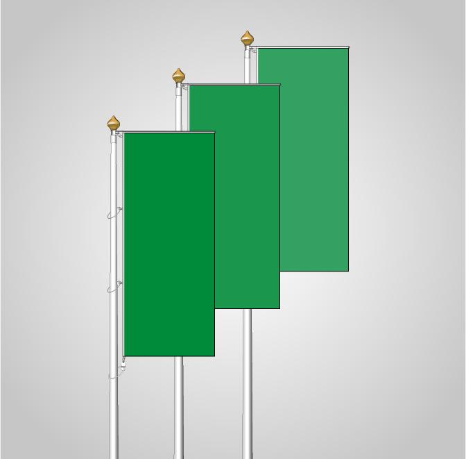 banderas con cortinilla