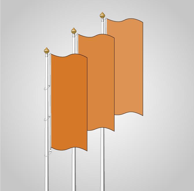 banderas verticales sin manga