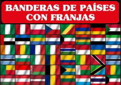banderolas de países con franjas