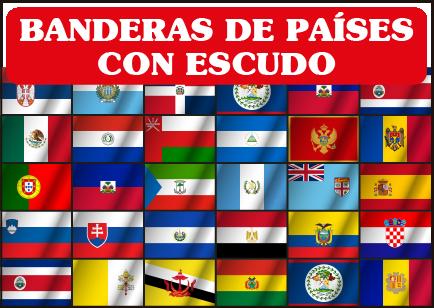 todos los paises de america con sus banderas