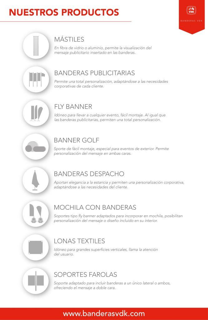 Productos Banderas VDK