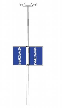 Soportes para banderas de farola