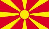 Bandera de sobremesa de Macedonia