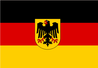 Bandera de Alemania con escudo