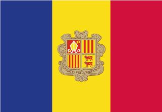 Bandera de sobremesa de Andorra