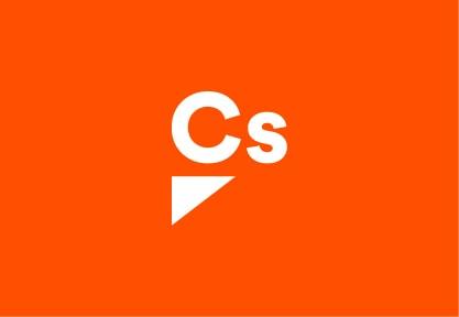 Bandera de Ciudadanos Cs Naranja