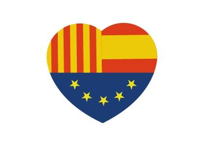 Bandera de Corazón Tribandera Ciudadanos