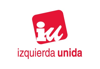 Bandera de Izquierda Unida IU Blanca