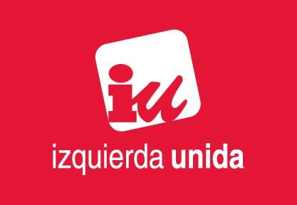 Bandera de Izquierda Unida IU Roja