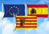Bandera de Pack Aragón (Unión Europea, España y Aragón)