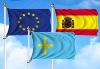 Bandera de Pack Asturias  (Unión Europea, España y Asturias)