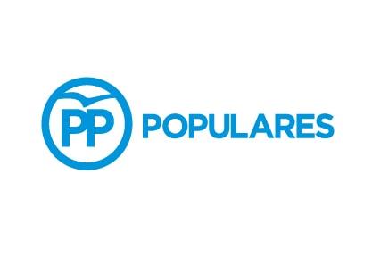 Bandera de Partido Popular PP Blanca