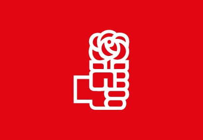 Bandera de PSOE Logo Rojo