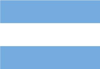 Bandera de Argentina sin escudo