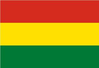 Bandera de Bolivia sin escudo