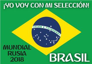 Bandera de Brasil Mundial 2018