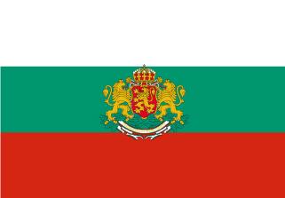Bandera de Bulgaria con escudo