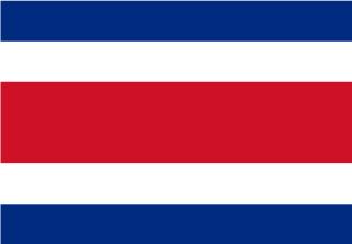Bandera de Costa Rica sin escudo