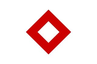Bandera de Cristal rojo