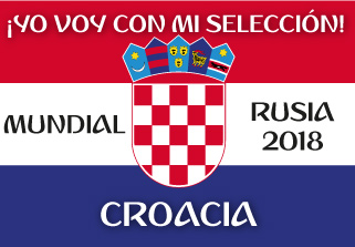 Bandera de Croacia Mundial 2018