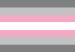 Bandera de Demigirl - Demiwoman