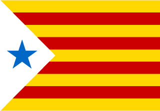 Bandera de Estelada Estrella Azul
