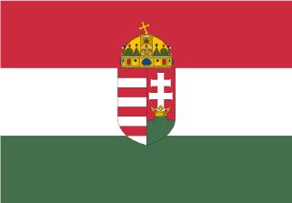Bandera de Hungría con escudo