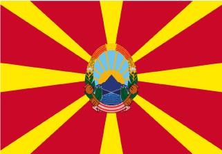 Bandera de Macedonia con escudo