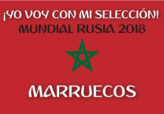 Bandera de Marruecos Mundial 2018