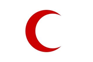 Bandera de Media luna roja