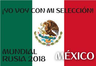 Bandera de Mexico Mundial 2018