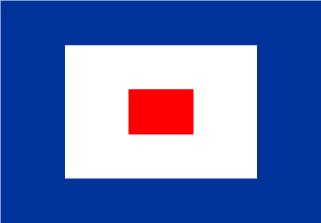 Bandera de Náutica Whiskey