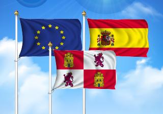 Bandera de Pack Castilla y León  (Unión Europea, España y Castilla y León)