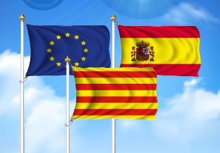 Bandera de Pack Cataluña  (Unión Europea, España y Cataluña)