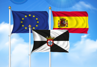 Bandera de Pack Ceuta (Unión Europea, España y Ceuta)