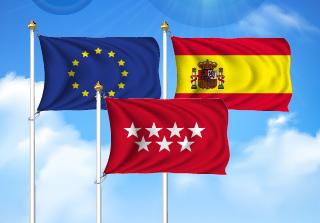 Bandera de Pack Comunidad de Madrid  (Unión Europea, España y Comunidad Madrid)