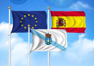 Bandera de Pack Galicia  (Unión Europea, España y Galicia)