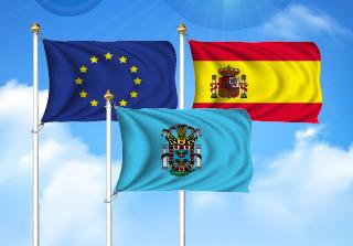 Bandera de Pack Melilla  (Unión Europea, España y Andalucía)