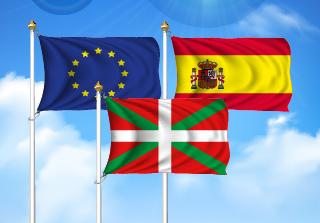 Bandera de Pack País Vasco  (Unión Europea, España y País Vasco)