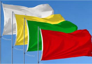 Bandera de Paquete 4 Banderas de Playa