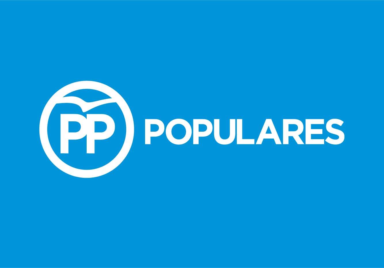 Bandera de Partido Popular PP Azul