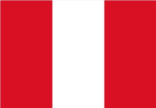 Bandera de Perú sin escudo