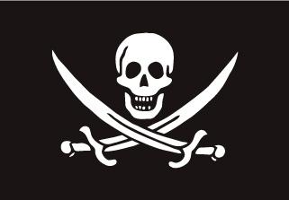Bandera de Pirata Jack Rackham