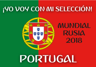 Bandera de Portugal Mundial 2018