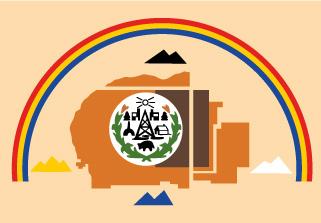Bandera de Pueblo Navajo